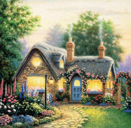 """Набір для творчості алмазна мозаїка """"Заміський будинок"""", 30*40 см, без рамки, H8118, фото 2"""