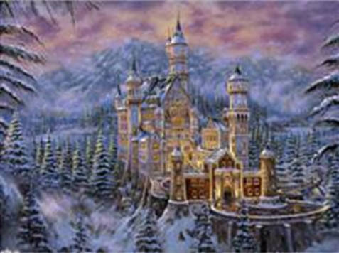 """Набір для творчості алмазна мозаїка """"Замок в горах"""", 30*40 см, без рамки, H8216, фото 2"""