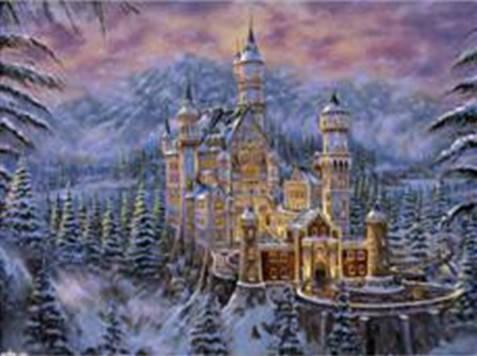 """Набор для творчества алмазная мозаика """"Замок в горах"""", 30*40 см, без рамки, H8216, фото 2"""