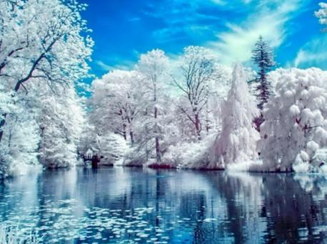 """Набір для творчості алмазна мозаїка """"Зимове озеро"""", 30*40 см, з рамкою, H8269"""