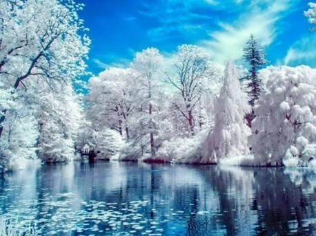 """Набір для творчості алмазна мозаїка """"Зимове озеро"""", 30*40 см, з рамкою, H8269, фото 2"""