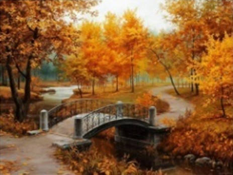"""Набір для творчості алмазна мозаїка """"Золота осінь"""", 30*40 см, без рамки, H8507, фото 2"""