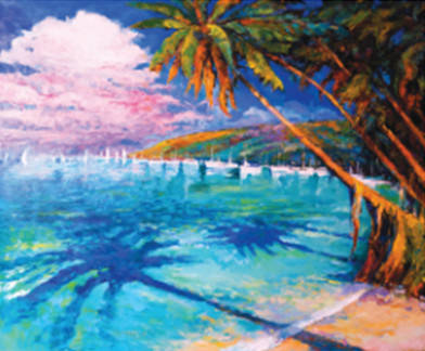 """Набір для творчості алмазна мозаїка """"Кариби"""", 30*40 см, з рамкою, H8385, фото 2"""