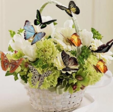 """Набір для творчості алмазна мозаїка """"Кошик з метеликами"""", 30*40 см, без рамки, H8354"""