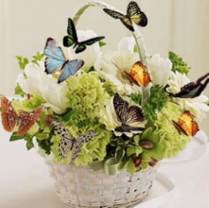 """Набір для творчості алмазна мозаїка """"Кошик з метеликами"""", 30*40 см, без рамки, H8354, фото 2"""