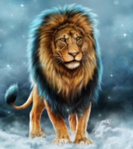 """Набір для творчості алмазна мозаїка """"Король звірів"""", 30*40 см, без рамки, H8399"""