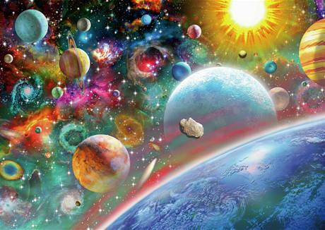 """Набір для творчості алмазна мозаїка """"Космос"""", 30*40 см, без рамки, H8591, фото 2"""