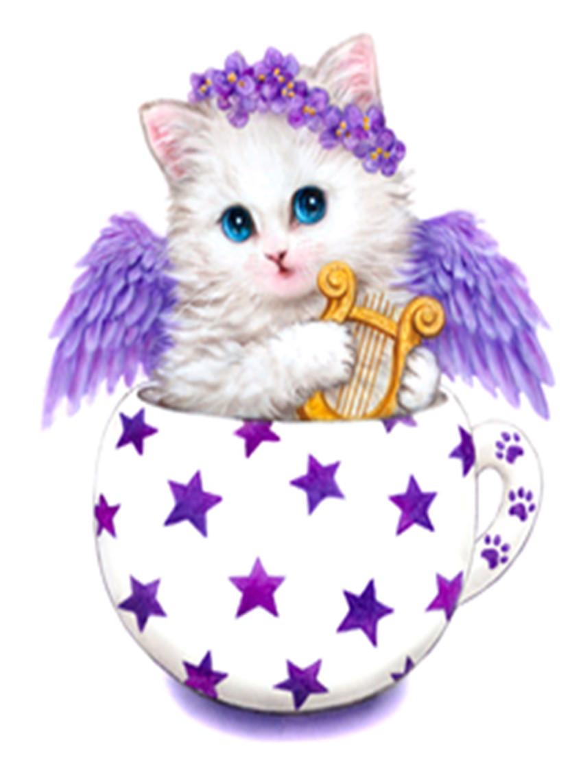 """Набор для творчества алмазная мозаика """"Котёнок с крыльями"""", 30*40 см, без рамки, H8239"""