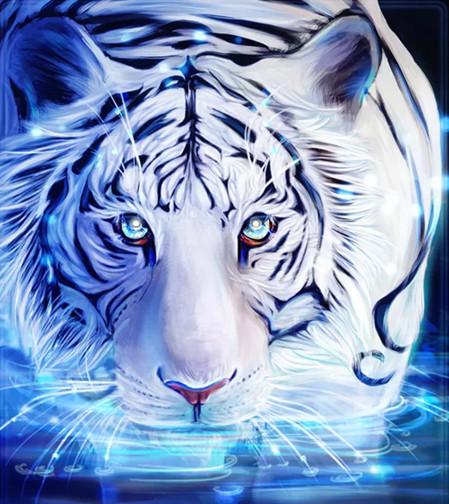 "Набор для творчества алмазная мозаика ""Кошка на водопое"", 30*40 см, без рамки, H8838"