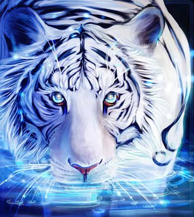 "Набор для творчества алмазная мозаика ""Кошка на водопое"", 30*40 см, без рамки, H8838, фото 2"