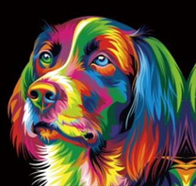 "Набор для творчества алмазная мозаика ""Красочная собака"", 30*40 см, без рамки, H8426"