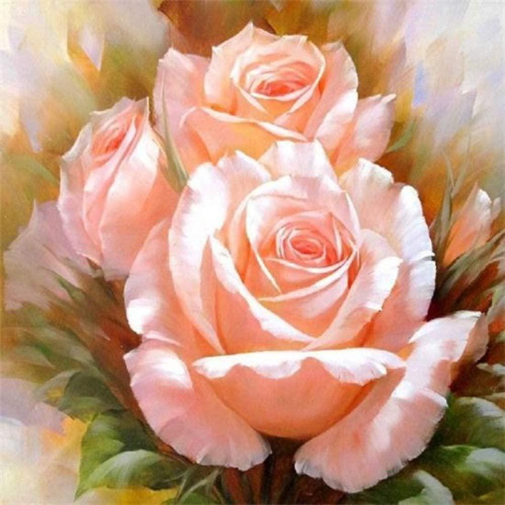 """Набір для творчості алмазна мозаїка """"Кремові троянди"""", 30*40 см, без рамки, H8262"""