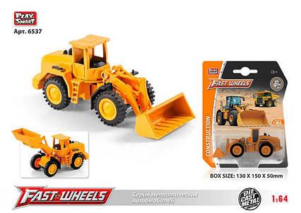 """Трактор """"Фронтальный Погрузчик"""" 6537 (216) Play Smart, металлопластик, на листе"""