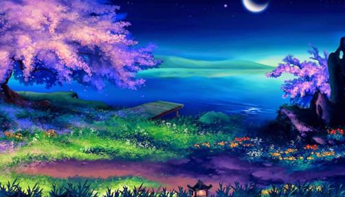 """Набор для творчества алмазная мозаика """"Лунная ночь"""", 30*40 см, без рамки, H8687"""