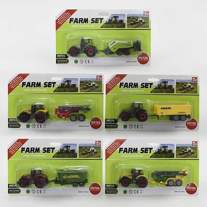 Трактор металлопластик SQ 82012-1 (384/2) 1шт на листе, 5 видов