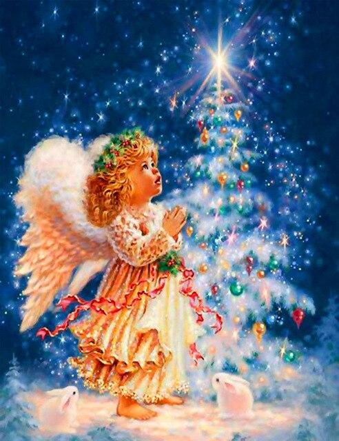 "Набір для творчості алмазна мозаїка ""Маленький ангел"", 30*40 см, без рамки, H8209"