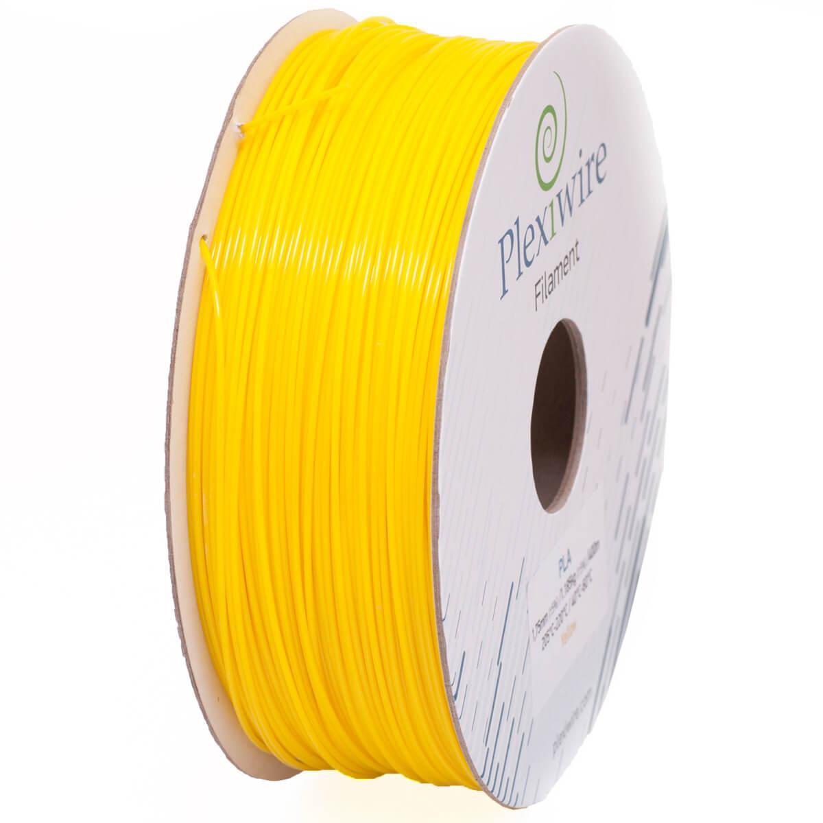 PLA пластик для 3D принтера 1.75 мм Жовтий (300 м / 0.9 кг)