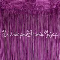 Шторы нити Фиолетовые №205 Однотонные Люкс Густые, фото 1