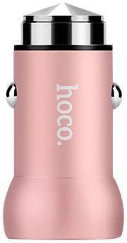 Автомобильное зарядное устройство с поддержкой быстрой зарядки Hoco Z4 QC 2.0 Rose Gold