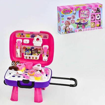 """Игровой набор """"Сладости"""" 36778-89 (24) с чемоданом, продукты на липучках, в коробке"""