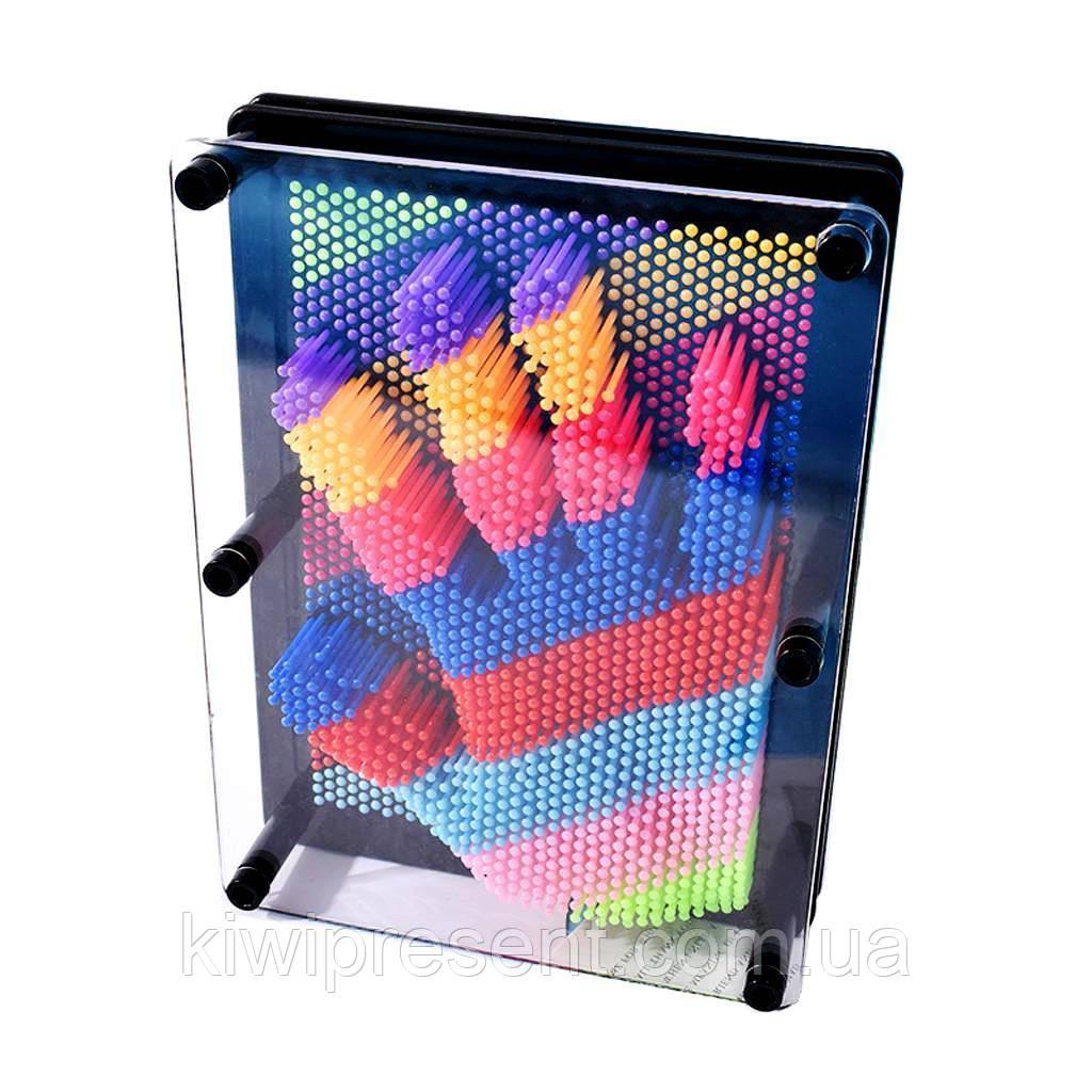 Пин арт Радуга 18 см цветной экспресс-скульптор Pinart 3D Радужный скульптор Гвоздики 3D разноцветный