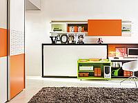Модульная система со встроенной шкаф-кроватью для подростка