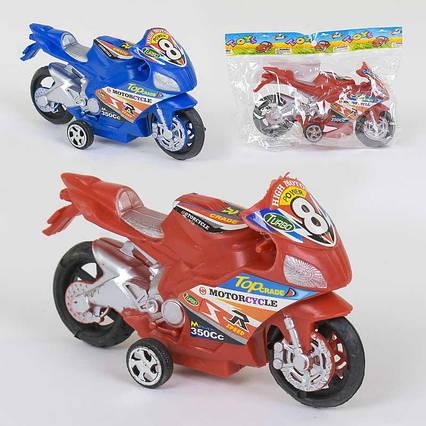 Мотоцикл 717 (1080) 2 цвета, инерция, 1шт в кульке