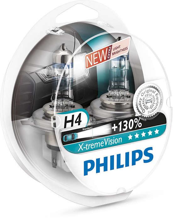 Philips H4 12342XVS2 New X-treme Vision +130%