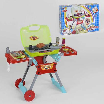 Набор барбекю 008-50 A (7) свет, звук, набор продуктов и кухонных принадлежностей, на бат-ке, в кор-ке