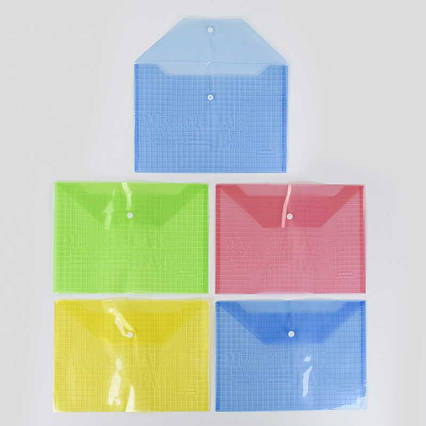 Папка для бумаг на кнопке С 36909 (100) /ЦЕНА ЗА УПАКОВКУ 12ШТ/ 1цвет в упаковке, 4 цвета