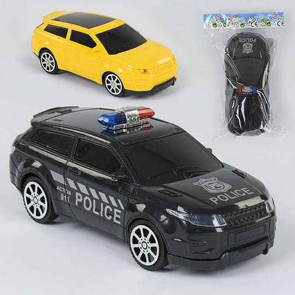"Машина ""Полиция"" 230-3 (360/2) 2 вида, инерция, 1шт в кульке"
