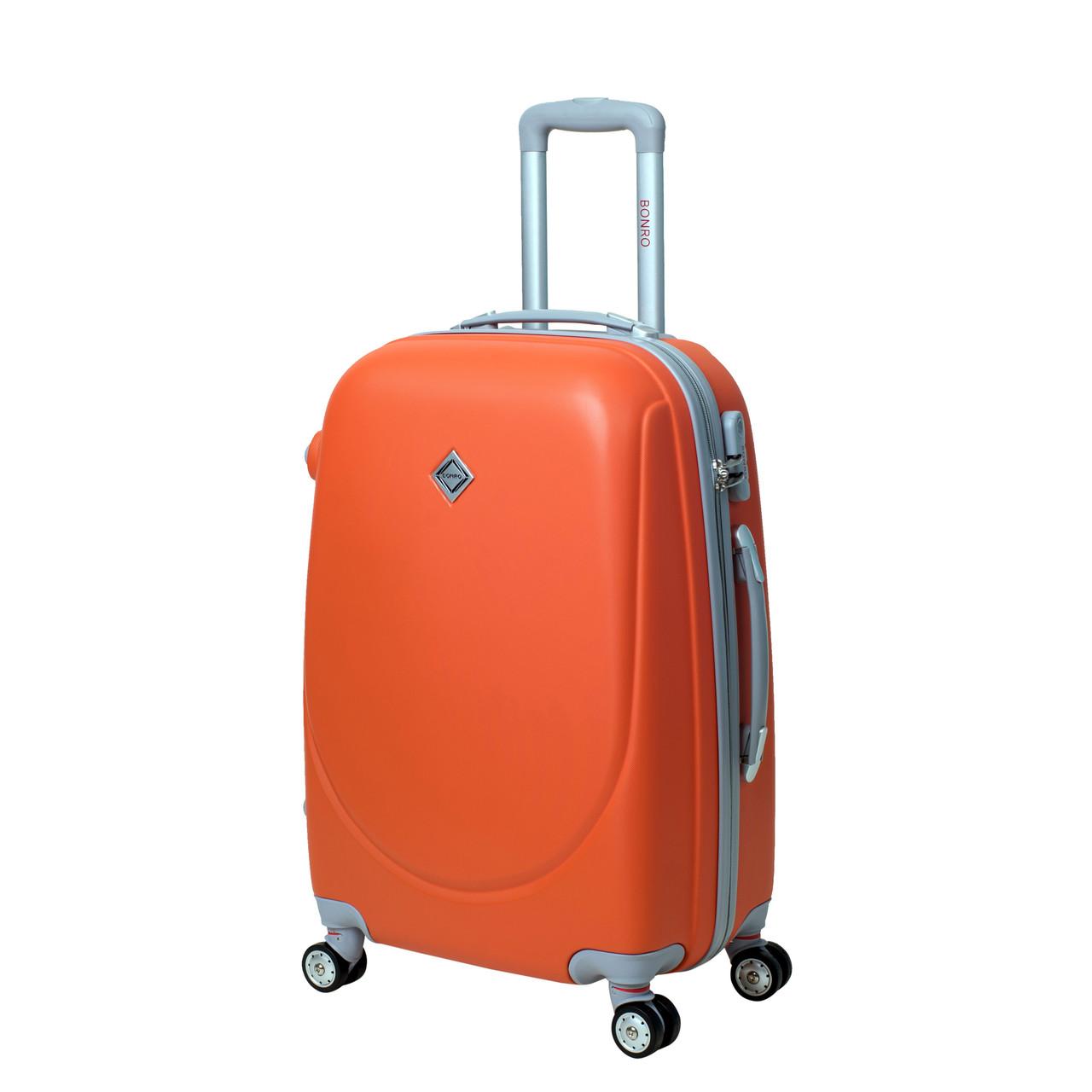 Чемодан Bonro Smile с двойными колесами (средний) оранжевый