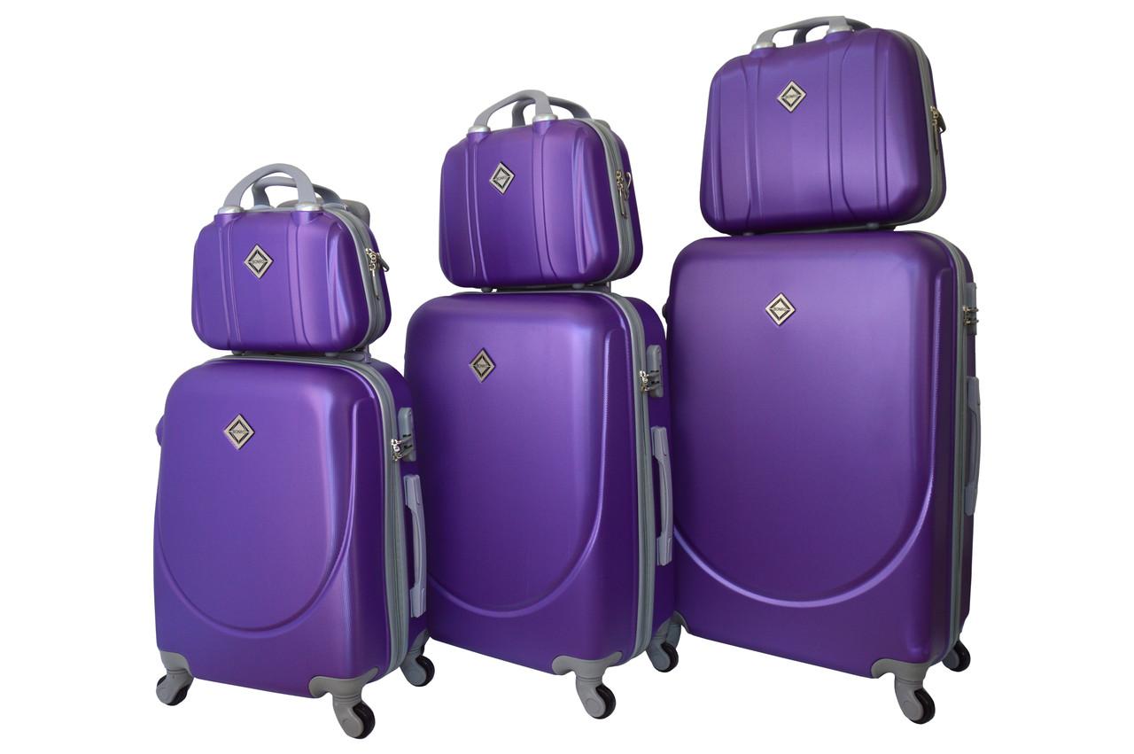 Набор чемоданов и кейсов 6в1 Bonro Smile фиолетовый