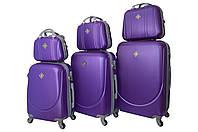 Набор чемоданов и кейсов 6в1 Bonro Smile фиолетовый, фото 1