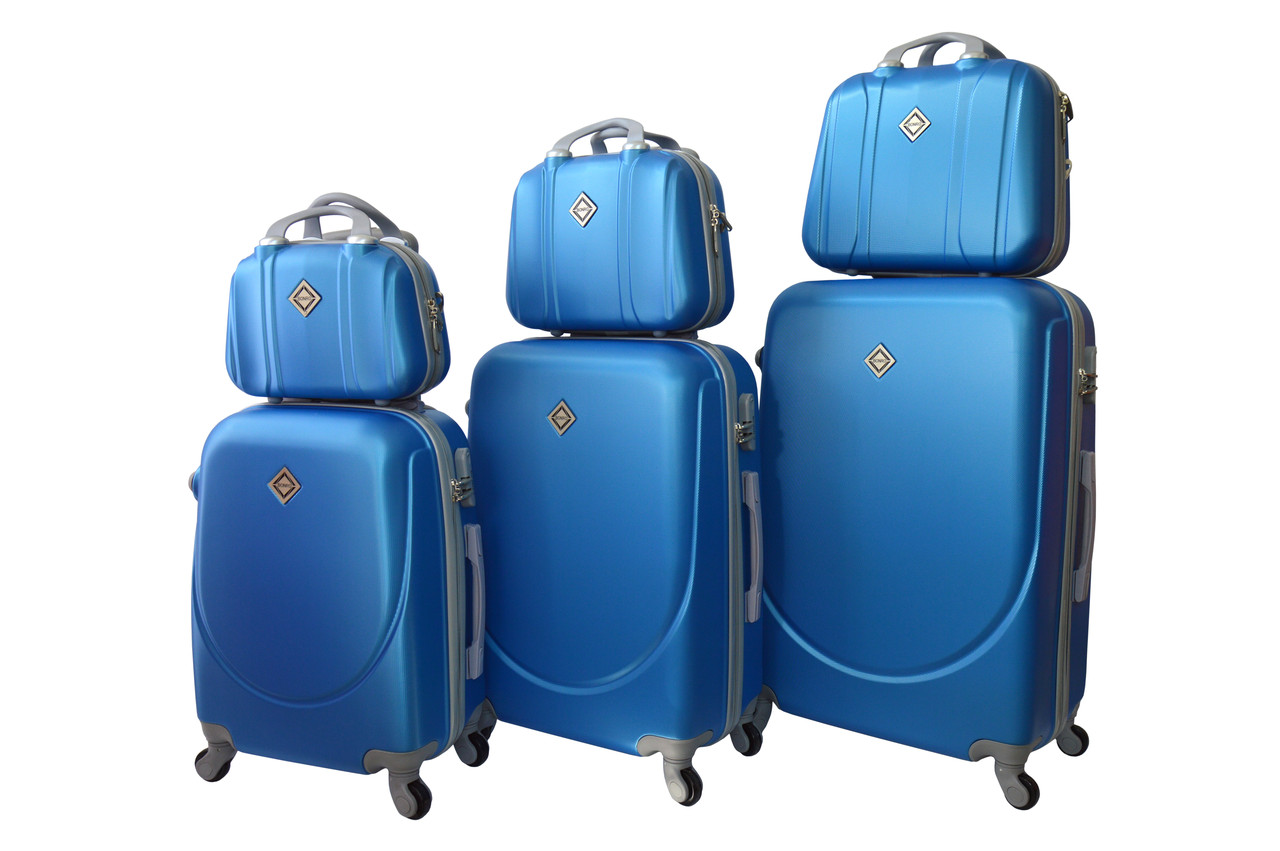 Набор чемоданов и кейсов 6в1 Bonro Smile светло синий