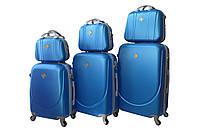 Набор чемоданов и кейсов 6в1 Bonro Smile светло синий, фото 1