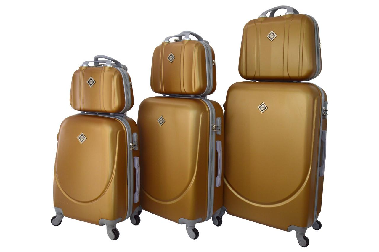 Набор чемоданов и кейсов 6в1 Bonro Smile золотой
