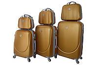 Набор чемоданов и кейсов 6в1 Bonro Smile золотой, фото 1