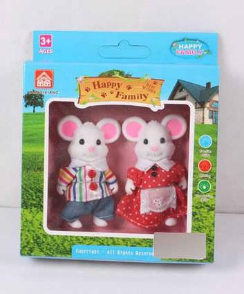 """Набор персонажей """"Счастливая семья"""" 012-01 С (120) флоксовые, 2 шт. в коробке"""