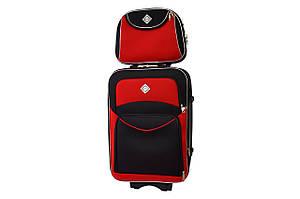 Комплект чемодан + кейс Bonro Style (небольшой) черно-красный