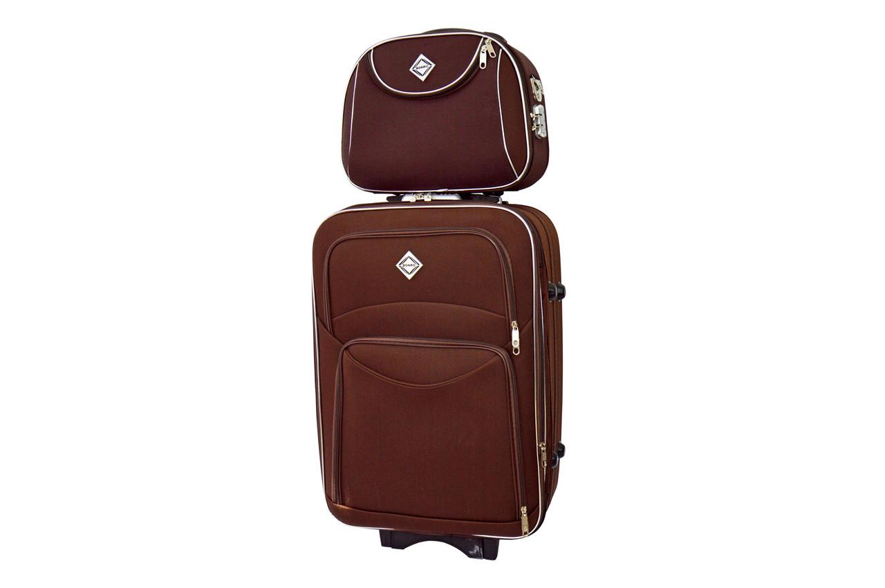 Комплект чемодан + кейс Bonro Style (средний) коричневый