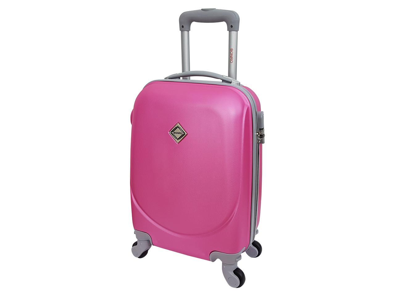 Чемодан ручная кладь Bonro Smile (мини) розовый