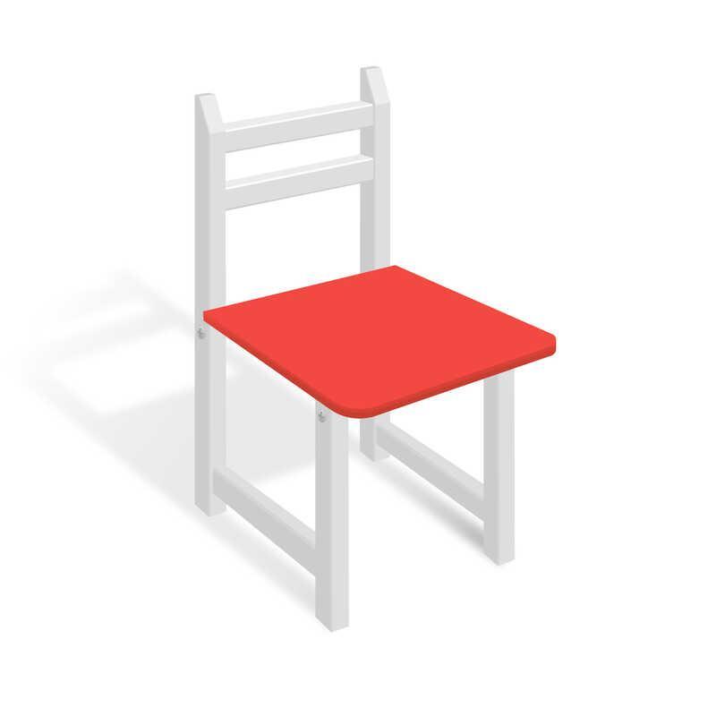 Стільчик СЦ 004 колір біло-червоний, 32см