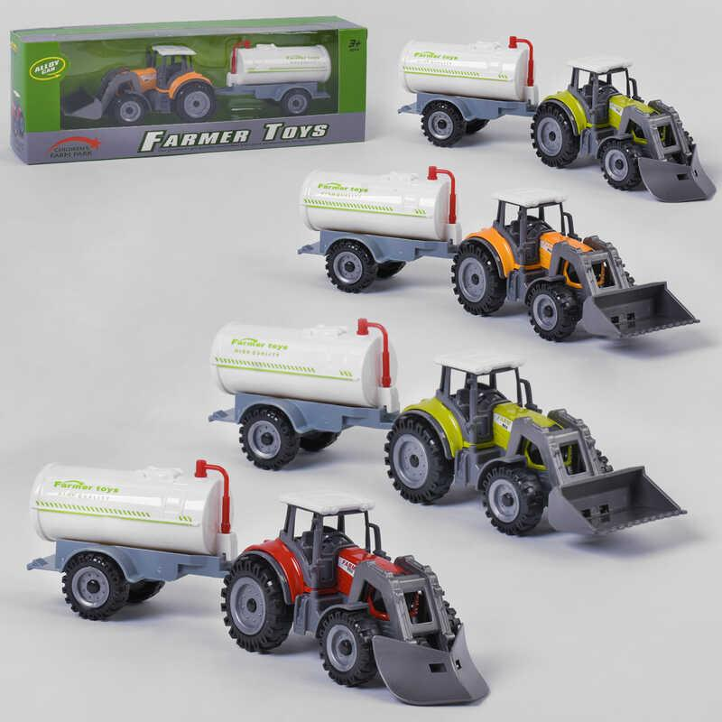 Трактор металлопластик FC 17-48 (120) 3 цвета, в коробке