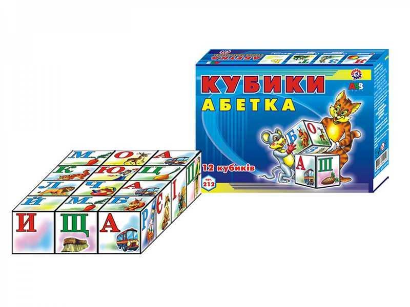 """Кубики 12 шт. """"Абетка"""" 0212 (47) """"Техноком"""""""