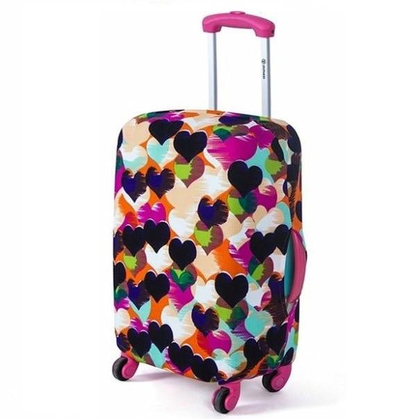 Чехол для чемодана Bonro большой сердечки (12052414) XL
