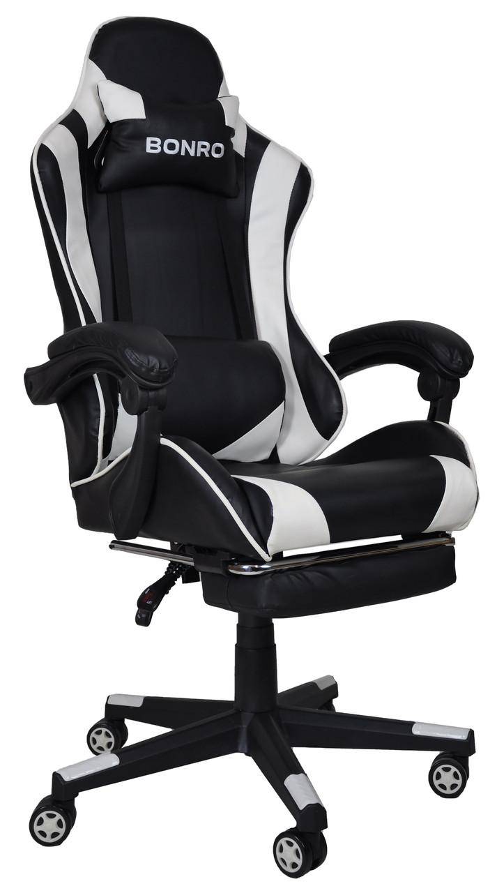 Кресло геймерское Bonro B-2013-1 белое