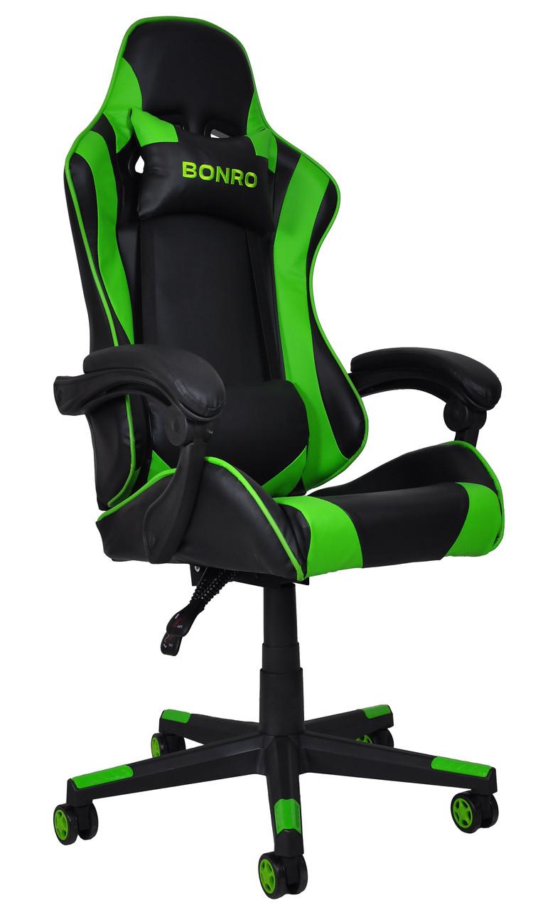 Кресло геймерское Bonro B-2013-2 зеленое