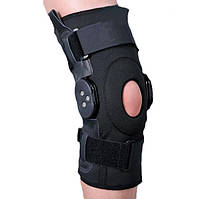 Ортез на коленный сустав с шарнирами для регулировки угла сгибания, разъемный Ortop ES-797 Тайвань