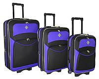 Чемодан Bonro Style набор 3 штуки черно-фиолетовый, фото 1